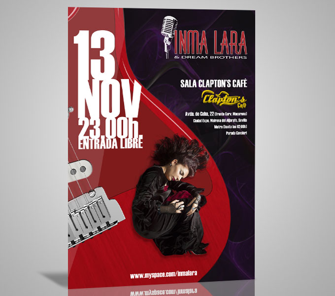 Cartel Inma Lara & Dream Brothers